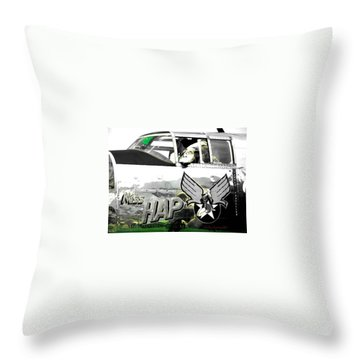 The Miss Hap Throw Pillow by Kathy Barney