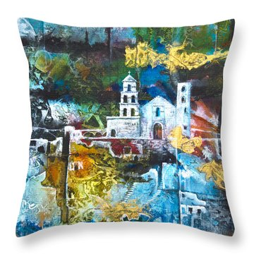 The Mission Throw Pillow by Patricia Allingham Carlson