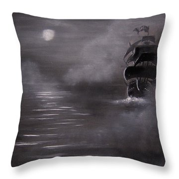 The Mist Throw Pillow by Eugene Budden