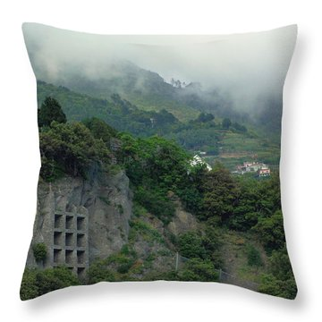 Throw Pillow featuring the photograph The Mist Cometh by Natalie Ortiz
