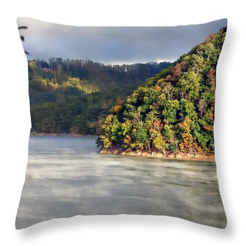 The Mists Of Watauga Throw Pillow