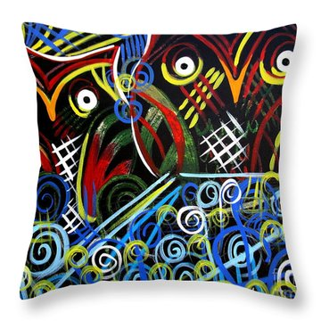 Throw Pillow featuring the painting The Mix by Amy Sorrell