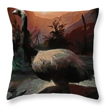 The Moa Throw Pillow by Steve Taylor