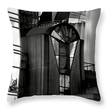 The Modern Highrise Throw Pillow by Bill Gallagher