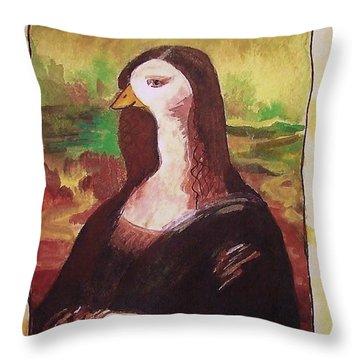 The Mona Goosa Throw Pillow by Margaret Bobb