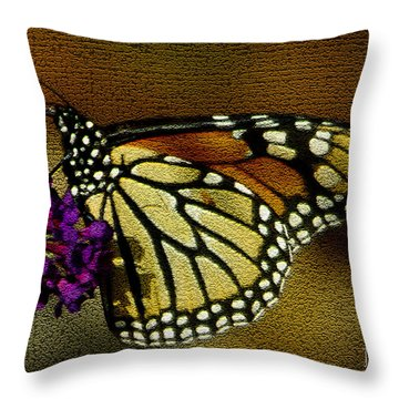 The Monarch / Butterflies Throw Pillow by James C Thomas