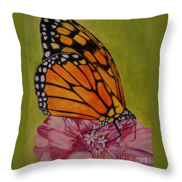 The Monarch Throw Pillow by Suzette Kallen