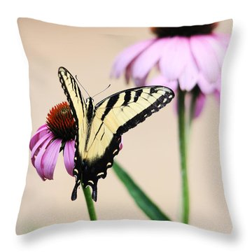 Throw Pillow featuring the photograph The Swallowtail by Trina  Ansel