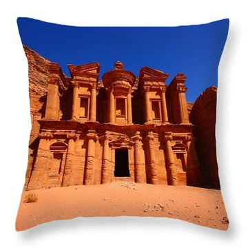 The Monastery Throw Pillow by FireFlux Studios