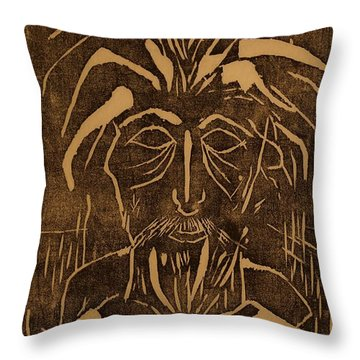 The Monk Throw Pillow