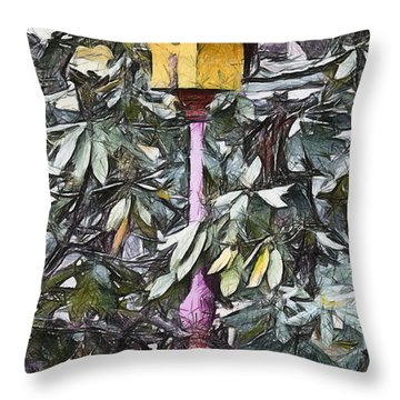The Monkey's Garden Throw Pillow by Trish Tritz