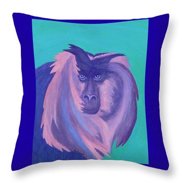 The Monkey's Mane Throw Pillow