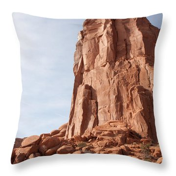 Throw Pillow featuring the photograph The Monolith by John M Bailey