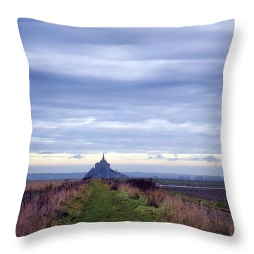 The Mont Saint Michel In Normandy France Throw Pillow