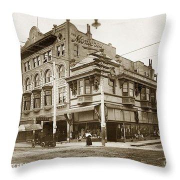 The Monterey Hotel 1904 The Goldstine Block Building 1906 Photo  Throw Pillow