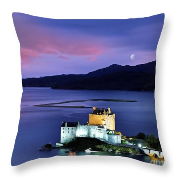 The Moon Above Throw Pillow