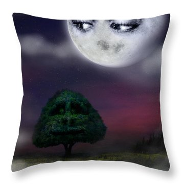 The Moon And The Tree Throw Pillow