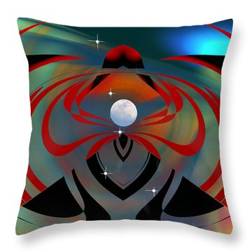 Throw Pillow featuring the digital art The Moon In Cancer by rd Erickson