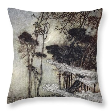 ..the Moon, Like To A Silver Bow Throw Pillow