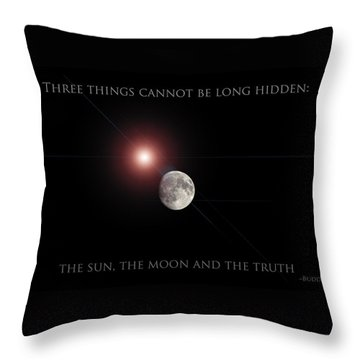Throw Pillow featuring the photograph The Moon by Pennie  McCracken