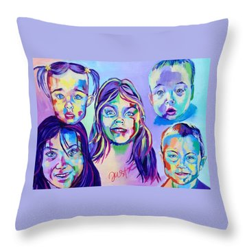 The Moore's Throw Pillow