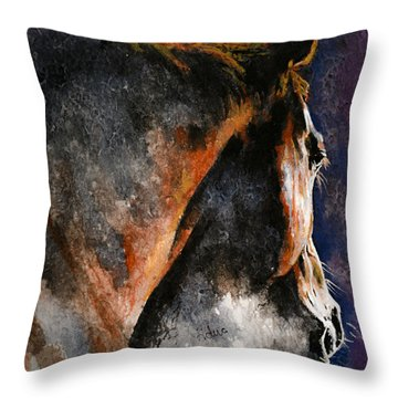 Cold Sunrise Throw Pillow by Laur Iduc