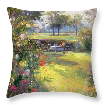The Morning Letter Throw Pillow by Timothy  Easton