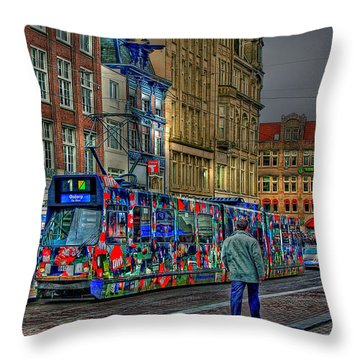 Throw Pillow featuring the photograph The Morning Rhythm by Ron Shoshani