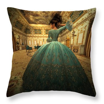 The Morning Room Throw Pillow by Kylie Sabra