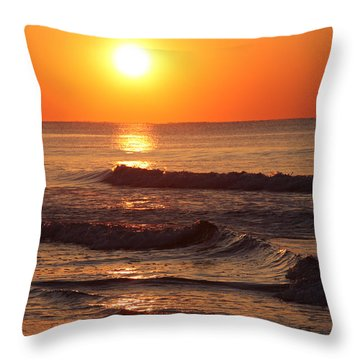 The Morning Tide Throw Pillow