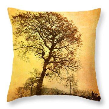 The Morning Tree Throw Pillow