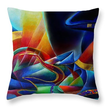 The Morning Throw Pillow by Wolfgang Schweizer