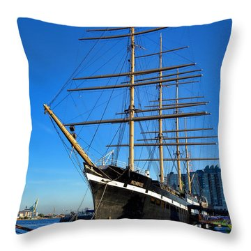 The Moshulu Throw Pillow by Olivier Le Queinec