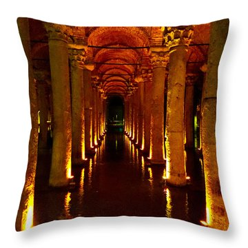 The Most Romantic Place Of Istanbul Throw Pillow by Zafer Gurel