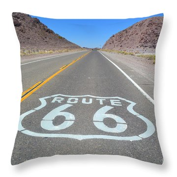 Throw Pillow featuring the photograph The Mother Road by Utopia Concepts