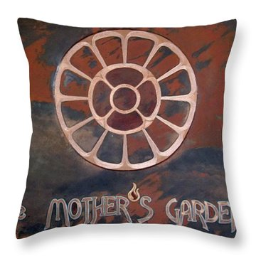 The Mother's Garden Throw Pillow