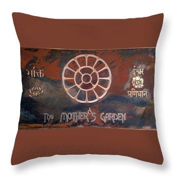 The Mother's Garden Throw Pillow