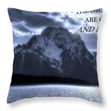 The Mountains Are Calling John Muir Throw Pillow by Dan Sproul
