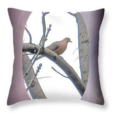 The Mourning Dove Throw Pillow by Patricia Keller
