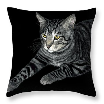 The Mouser Throw Pillow