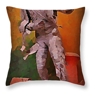 The Mummy Throw Pillow by John Malone