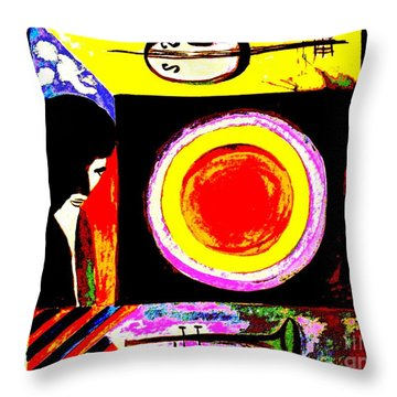 Throw Pillow featuring the painting The Music Maker by Hazel Holland