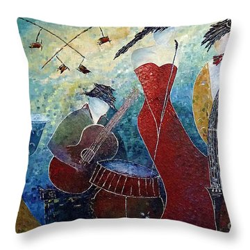 The Music Never Stopped 2 Throw Pillow