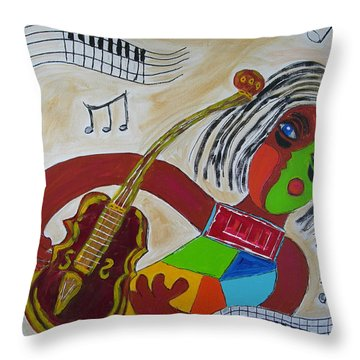 The Music Practitioner Throw Pillow