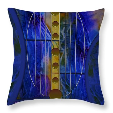 The Musical Abstraction Throw Pillow