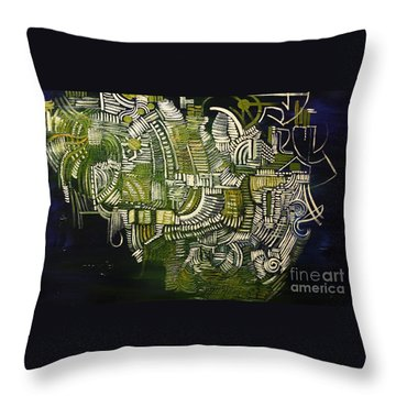 The Mysterious Harry Houdini Throw Pillow by Michael Kulick