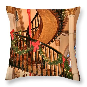 The Mysterious Miracle Staircase Throw Pillow