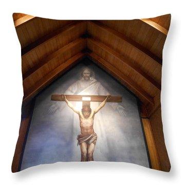 The Mystery Of Faith Frescoe Throw Pillow
