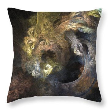 The Mystical Garden - Abstract Art Throw Pillow