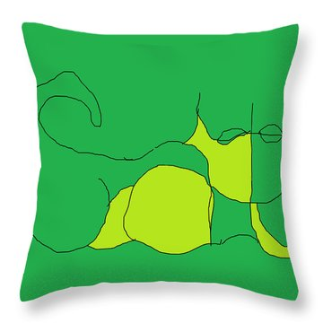 Throw Pillow featuring the painting The Name Is Cat by Anita Dale Livaditis